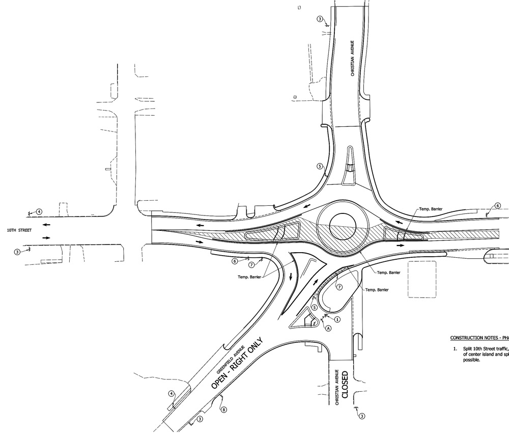 Traffic switch at Greenfield Ave  roundabout starts tomorrow