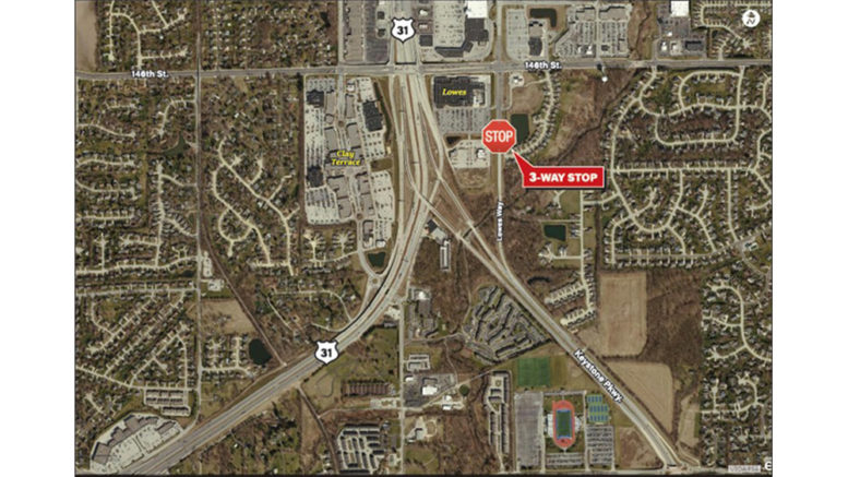 New three-way stop on Lowes Way – Hamilton County Reporter